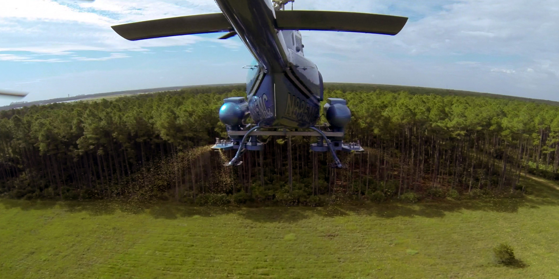 Larvicide Treatment form helicopter's perspective